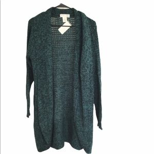 Planet Gold open front cardigan sweater 1X